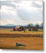 Sun Rays On Codori Farm. Metal Print