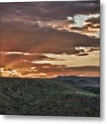 Sun Rays On Colorado Sage Metal Print