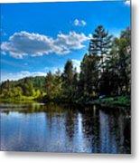 Sun Reflecting On The Moose River Metal Print