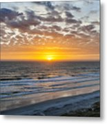 Sun Rising Over Atlantic Metal Print