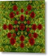 Sun Roses In The Deep Dark Forest With Fantasy And Flair Metal Print