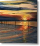 Sun Set At Seabridge Metal Print