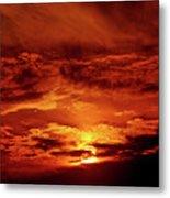Sun Set II Metal Print by Chaza Abou El Khair