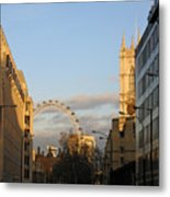 Sun Sets On London Metal Print