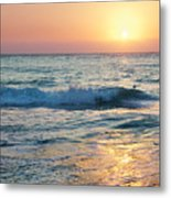 Sun Sets Over Seven Mile Beach Metal Print