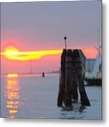 Sun Sets Over Venice Metal Print