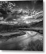 Sun Setting On The Owens River Metal Print