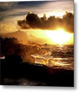 Sun Setting On The Pacific Metal Print
