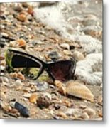 Sun Shades And Sea Shells Metal Print