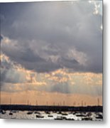 Sun Shines On The Harbor  Metal Print