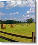 Sun Shone Hay Made Metal Print