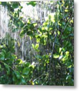 Sun Shower Photograph Metal Print