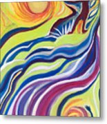 Sun Surfer Metal Print