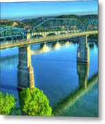 Sun Up Reflections Chattanooga Tennessee Metal Print