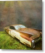 Sunbeams On A Classic Cadillac Metal Print