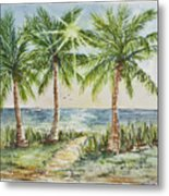 Sunburst Beach Morning Metal Print