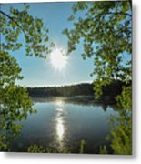 Sunburst Over The Reservoir Metal Print