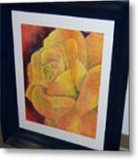 Sunburst Rose Metal Print