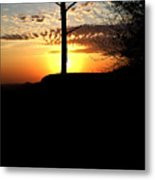 Sunburst Sunset Metal Print