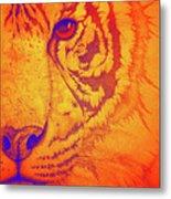 Sunburst Tiger Metal Print
