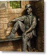 Sundance Kid Statue Metal Print