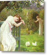 Sunday Afternoon - Ladies In A Garden Metal Print