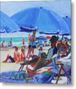 Sunday Beach Blues Metal Print