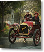 Sunday Drive In A 1910 Buick Metal Print