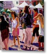 Sunday Market Metal Print