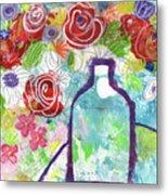 Sunday Market Flowers 2- Art By Linda Woods Metal Print