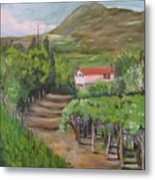 Sunday Morning At Ocone Vini Montesarchio Italy Metal Print