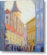 Sunday Stroll - Prague Metal Print
