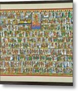 Sunder Kand- Ramayana Phad Metal Print