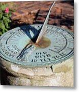 Sundial At Benjamin Harrison Home, Indianapolis, Indiana Metal Print