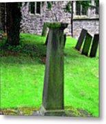 Sundial In St Leonard's Churchyard - Thorpe Metal Print