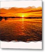 Sundown At Low Tide 2 Metal Print