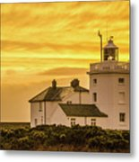 Sundown At The Lighthouse Metal Print