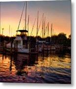 Sundown At The Marina 2 Metal Print
