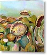 Sundown Flowers Metal Print