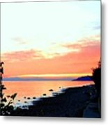 Sundown From West Vancouver Metal Print