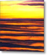 Sundown In The Marshlands Metal Print
