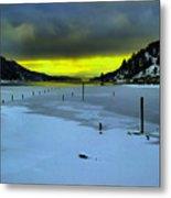 Sundown On Lake Shore Metal Print