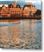 Sundown On The Boardwalk Walt Disney World Metal Print