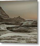 Sundown Over The Ocean Rocks Metal Print