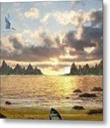 Sundown Seascape Metal Print