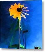 Sunflower And The Wind Spirit Metal Print