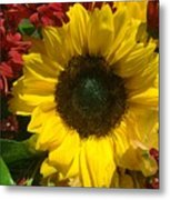 Sunflower Boquet Metal Print