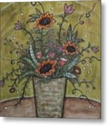 Sunflower Bouquet Metal Print