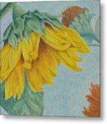 Sunflower Buddies Metal Print