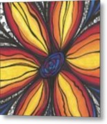 Sunflower Burst Metal Print